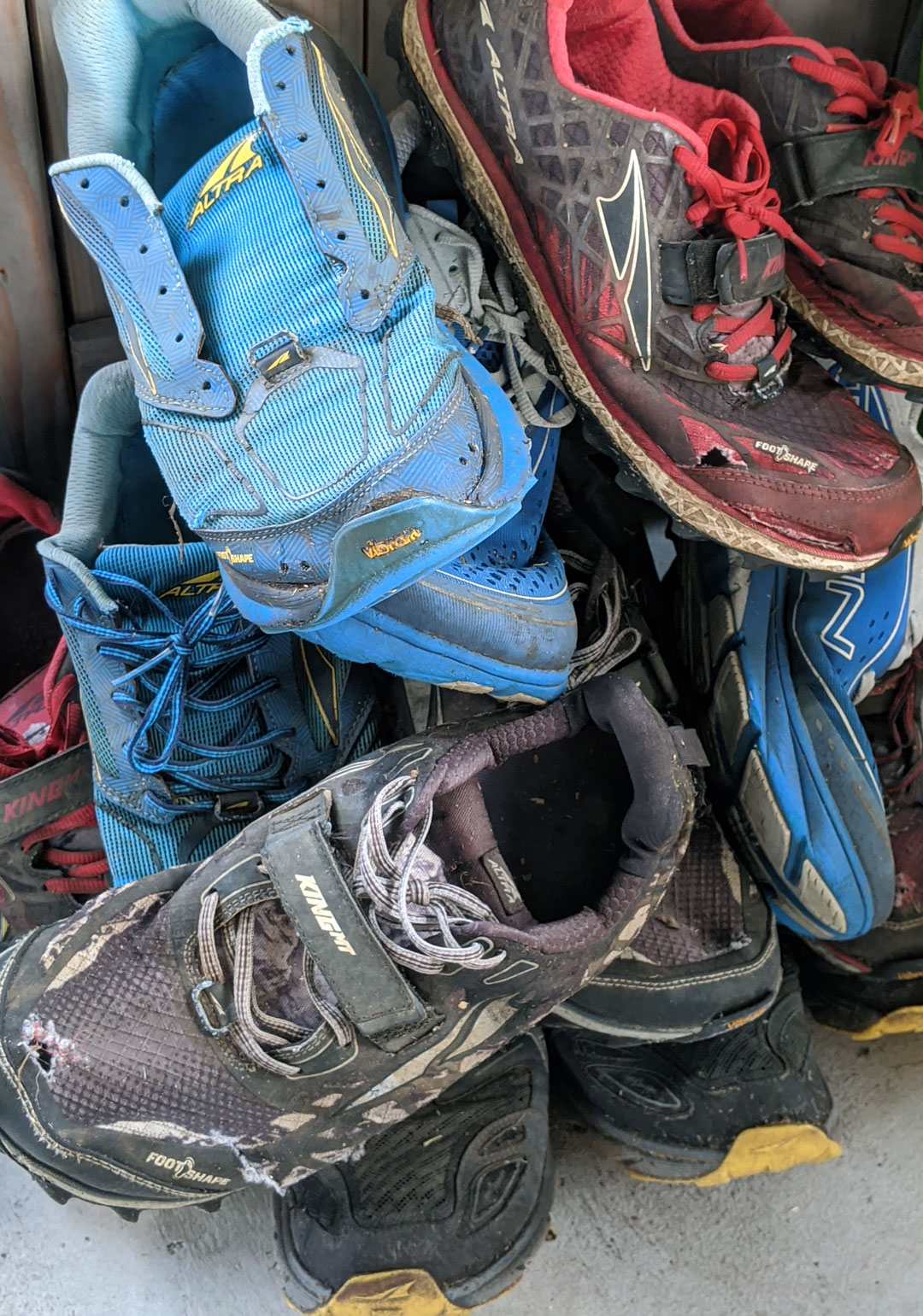 Shoes, pile of